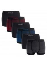 Gomati Herren Seamless Pants (6er Pack), Nahtlose Boxershorts aus Microfaser-Elasthan - Multicolor Degrade