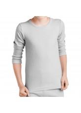 MT Kinder Ski- & Thermohemd - Winter Unterwäsche langarm für Jungen und Mädchen - Sports Grey