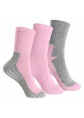 Footstar 3 Paar Kinder Thermo Frottee-Socken - Rosa
