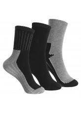 Footstar Kinder Frottee-Socken mit Motiv (3 Paar), Warme Socken mit Thermoeffekt - Schwarz