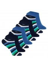 Footstar - 8 Paar Kinder Sneaker-Socken - Blau-Grün