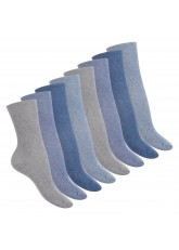 Footstar Damen Gesundheitssocken (8 Paar) Diabetiker geeignet - ohne Gummi - Jeanstöne