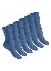 Footstar Damen Gesundheitssocken (6 Paar), Nahtfreie Diabetikersocken - Jeansfarben