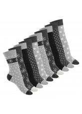 10 Paar süße Damen Socken - Classic Grey