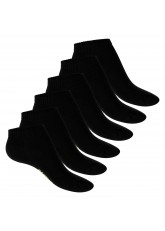 Footstar Damen Bambus Sneaker Socken (6 Paar), Kurze Socken aus nachhaltiger Viskose - Schwarz