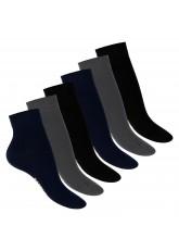 Footstar Damen Bambus Kurzschaft Socken (6 Paar), Quarter Socken aus nachhaltiger Viskose - Mix