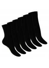 Footstar Damen Bambus Socken (6 Paar), Klassische Socken aus nachhaltiger Viskose - Schwarz