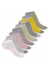 Footstar Damen Motiv Sneaker Socken (8 Paar), Kurze süße Söckchen mit Mustern - Pastellfarben
