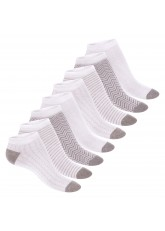 Footstar Damen Motiv Sneaker Socken (8 Paar), Kurze süße Söckchen mit Mustern - Grau Melange