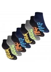 Footstar Herren & Damen Sneaker Socken (8 Paar), Kurze Sportsocken im Neon Look - Neon Slogan