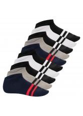 Footstar Damen & Herren Sneaker Socken mit Blockringel Design (10 Paar), Kurze Sportsocken  - Sneak It! - Street