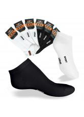 8 Paar Herren XXL Sneaker Socken Schwarz / Weiss