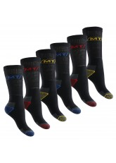MT Herren Arbeits- und Freizeitsocken (6 Paar), Robuste Work Socken - Schwarz