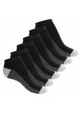 Footstar Damen & Herren Fitness Sneaker Socken (6 Paar) - Schwarz-Grau