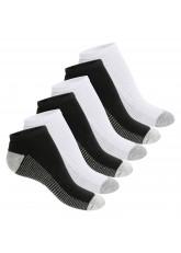 Footstar Damen & Herren Fitness Sneaker Socken (6 Paar) - Grau-Mix