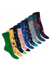 Footstar Damen & Herren Bunte Motiv Socken (9 Paar), Lustige Baumwoll Socken - Animals