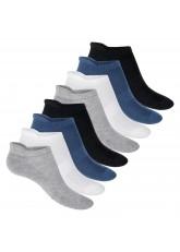 Footstar Herren & Damen Funktions Sneaker Socken (8 Paar), Gepolsterte Sportsocken – Mix