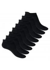 Footstar Herren & Damen Funktions Sneaker Socken (8 Paar), Gepolsterte Sportsocken – Schwarz