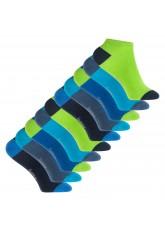 Footstar Kinder Baumwoll Sneaker Socken (10 Paar) mit abgesetzter Ferse und Spitze - Caribbean