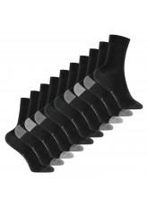 Footstar Kinder Baumwoll Socken (10 Paar) mit abgesetzter Ferse und Spitze - Classic Grey