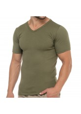 Celodoro Herren Business T-Shirt V-Neck (1 Stück) - Olive