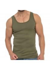 Celodoro Herren Business Tank Top (1 Stück), Achselhemd aus Baumwolle - Olive