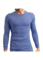 MT Herren Ski- und Thermounterhemd - warme Unterwäsche langarm mit Innenfleece - Blau