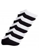 Footstar Herren & Damen Sneaker Socken (10 Paar), Kurze Sportsocken aus Baumwolle - Sneak It! - Schwarz / Weiss Mix