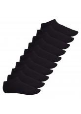 Footstar Herren & Damen Sneaker Socken (10 Paar), Kurze Sportsocken aus Baumwolle - Sneak It! - Schwarz