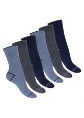 Footstar Damen und Herren Wintersocken (6 Paar), Warme Vollfrottee Socken mit Thermo Effekt -  Everyday! - Jeans