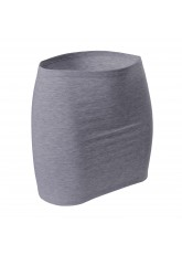CFLEX Damen Variotube-Nierenwärmer, Shirtverlängerung, Minirock aus Baumwolle - Grey Melange