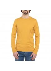 Celodoro Herren Rundhals Pullover, Baumwollstrick, Regular Fit - Oak Buff