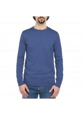 Celodoro Herren Rundhals Pullover, Baumwollstrick, Regular Fit - Blue Indigo