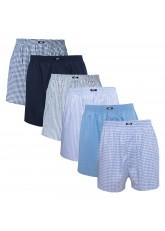 MT Herren Web Boxershorts (6er Pack) American Boxer gewebt aus Baumwolle - Navy-Blau