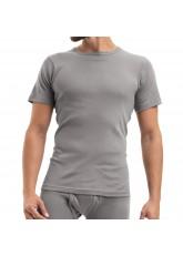 Celodoro Herren Feinripp Unterwäsche T-Shirt (Hemd), kurzarm aus Baumwolle - Grau