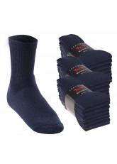 24 Paar Sport- und Freizeitsocken - jeansblau