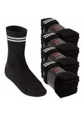 32 Paar MT® Sport- und Freizeitsocken schwarz mit weissen Streifen