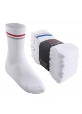 8 Paar MT® Sport- und Freizeitsocken Weiß mit bunten Streifen