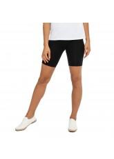Celodoro Damen Kurzleggings (1 Stück), Stretch-Jersey Radlerhose aus Baumwolle - Schwarz