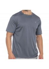 CFLEX Herren Sport Shirt Fitness T-Shirt piqué Sportswear Collection - Grau
