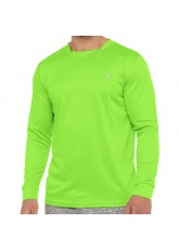 CFLEX Herren Fitness Shirt Langarm, Sporthemd Longsleeve, Quickdry Piqué -  Electric Green