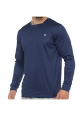 CFLEX Herren Fitness Shirt Langarm, Sporthemd Longsleeve, Quickdry Piqué - Navy