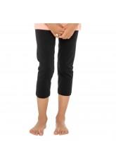 Celodoro Kinder Leggings (3/4 Capri), Stretch-Jersey Hose aus Baumwolle - Schwarz