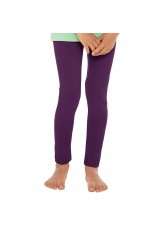 Celodoro Kinder Leggings, stretchige Jersey Hose aus Baumwolle - Lila