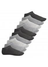 Footstar Herren & Damen Sneaker Socken (10 Paar), Kurze Sportsocken aus Baumwolle - Sneak It! - Classic Grey