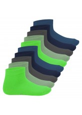 Footstar Kinder Kurzschaft Socken (10 Paar) - Sneak it! - Cool Colours