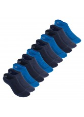 Footstar Damen und Herren Funktions Füßlinge (12 Paar) Unsichtbar mit Frotteesohle - Jeansblau-Mix