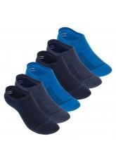Footstar Damen und Herren Funktions Füßlinge (6 Paar) Unsichtbar mit Frotteesohle - Jeansblau-Mix