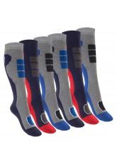 Footstar Kinder Outdoor Kniestrümpfe (6 Paar), Bunte Strümpfe mit Thermo-Effekt - Variante 2