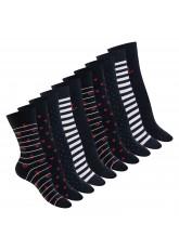 Celodoro Damen Motiv Socken (10 Paar), süße Söckchen aus Baumwolle - Marine